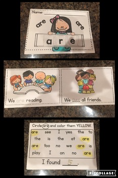 Benchmark Advance Kindergarten Rainbow Sight Word Mini Books