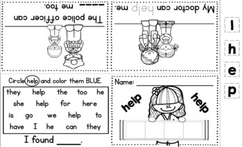 Wonders Kindergarten Rainbow Sight Word Mini Books