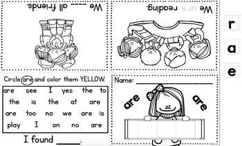 Treasures Kindergarten Rainbow Sight Word Mini Book