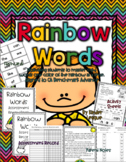 Benchmark Advance Kindergarten Rainbow Words Sight Word Resources
