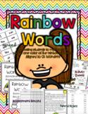 Wonders Kindergarten Rainbow Words Sight Word Resources