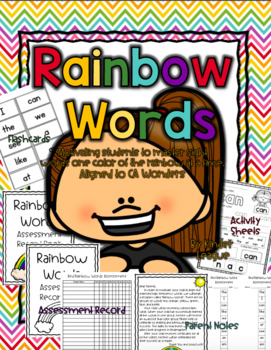 Wonders Kindergarten Rainbow Words Sight Word Resources