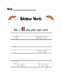 Rainbow Words Sight Words Literacy Center
