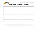 Rainbow Words Template