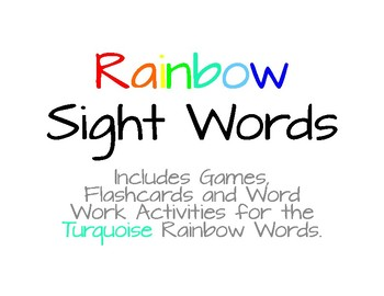 Rainbow Words - Turquoise List #7
