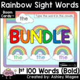 Rainbow Words - Type 100 Sight Words - Boom Cards - Digita