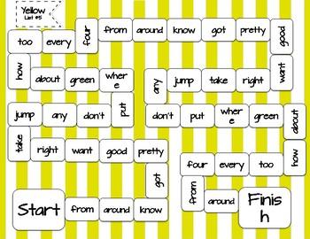 Rainbow Words - Yellow #5
