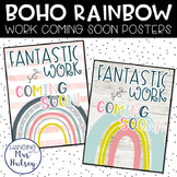 Rainbow Work Coming Soon Posters