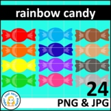 Rainbow Wrapped Candy Clip Art Commercial Use