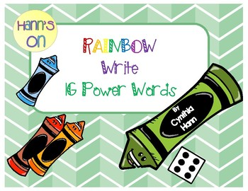 Rainbow Write 1G power words