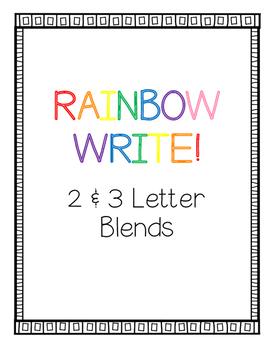 Rainbow Write 2 & 3 Letter Blends