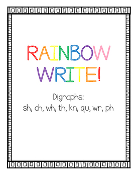 Rainbow Write Digraphs