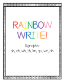Rainbow Write Digraphs