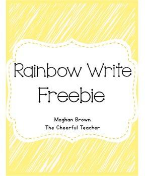 Rainbow Write Freebie (NO PREP)