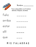 Rainbow Write High Frequency Spanish words (Set 3)