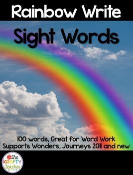 Sight Word Practice, Rainbow Write, Kindergarten, First