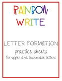 Rainbow Write Letter Formation Sheets