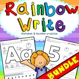 Rainbow Write Letters and Numbers BUNDLE