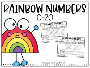 Rainbow Write Numbers 0-20