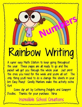 Rainbow Write Numbers