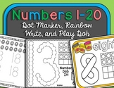 Numbers 1-20 {Dot, Rainbow, Play Doh!}
