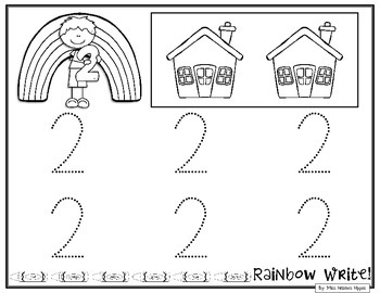 Rainbow Write Numbers 1-30
