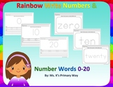 Rainbow Write Numbers & Number Words 0-20 (BUNDLE)