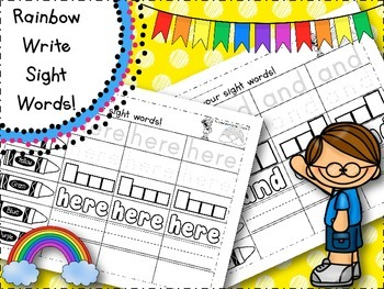 Rainbow Write Pre-Primer Sight Words