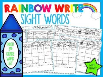 Rainbow Write Sight Words *2nd Grade*
