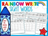 Rainbow Write Sight Words *Pre-Primer List*