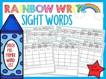Rainbow Write Sight Words *The Bundle*