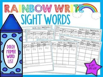 Rainbow Write Sight Words *The Bundle*