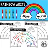 RAINBOW WRITE Kindergarten Sight Words