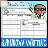 rainbow write template teaching resources teachers pay teachers