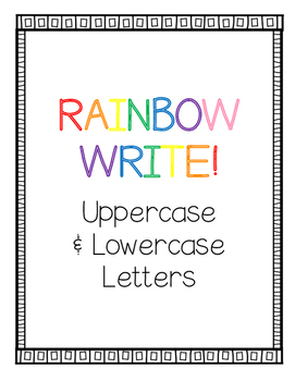 Rainbow Write Uppercase & Lowercase Letters