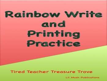 Rainbow Write and Printing Practice