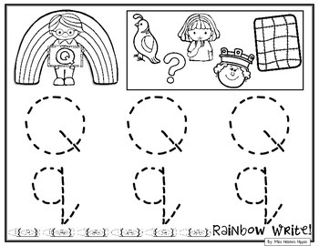 Rainbow Write the Alphabet