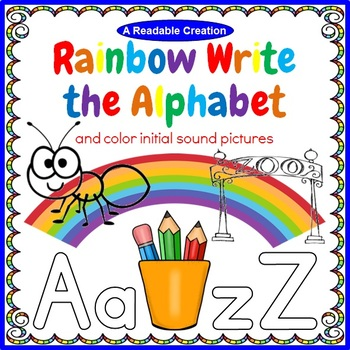 Rainbow Write the Alphabet