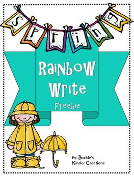 Rainbow Write Freebie