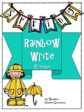 Rainbow Write Freebie