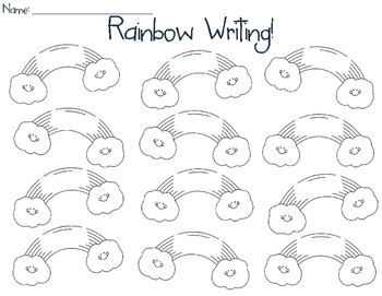 Rainbow Writing!