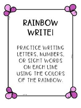 Rainbow Writing