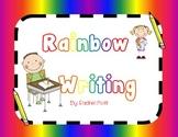 Rainbow Writing ABC's !!