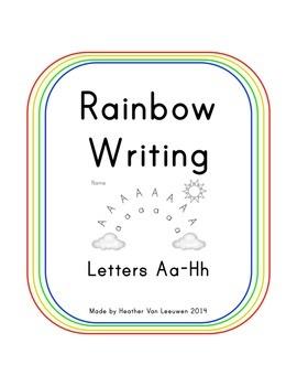 Rainbow Writing Aa-Hh