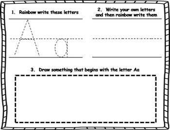 Rainbow Writing Alphabet Book