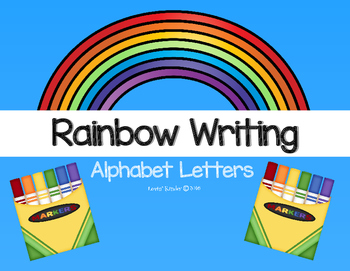 Rainbow Writing (Alphabet Letters)