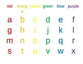 Rainbow Writing Card