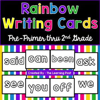 Rainbow Writing Cards Pack