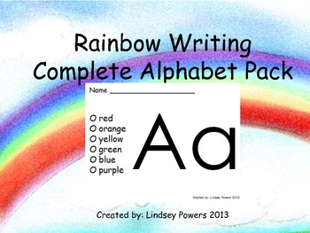 Rainbow Writing: Complete Alphabet Pack