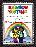 Rainbow Writing Creative Letter Formation Practice